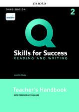 Q: Skills for Success: Level 2: Reading and Writing Teacher's Handbook with Teacher's Access Card