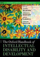 The Oxford Handbook of Intellectual Disability and Development