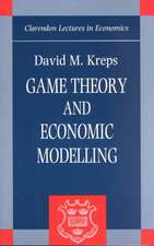 Game Theory and Economic Modelling