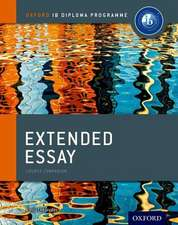 Extended Essay Course Book: Oxford IB Diploma Programme