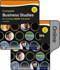Complete Business Studies for Cambridge IGCSE and O Level: Print & Online Student Book Pack