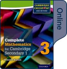 Complete Mathematics for Cambridge Lower Secondary Book 3: Online Student Book
