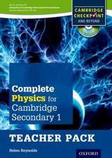 Complete Physics for Cambridge Lower Secondary Teacher Pack: For Cambridge Checkpoint and beyond
