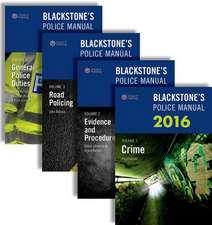 Blackstone's Police Manuals 2016:  Four Volume Set