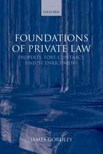 Foundations of Private Law: Property, Tort, Contract, Unjust Enrichment