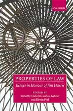 Properties of Law: Essays in Honour of Jim Harris