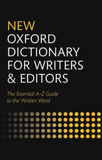 New Oxford Dictionary for Writers and Editors