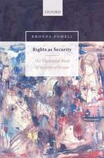 Rights as Security: The Theoretical Basis of Security of Person