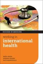 Working in International Health