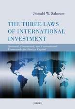 The Three Laws of International Investment: National, Contractual, and International Frameworks for Foreign Capital