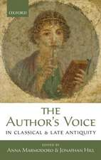 The Author's Voice in Classical and Late Antiquity
