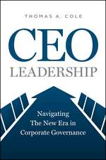CEO Leadership – Navigating the New Era in Corporate Governance