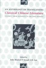 Classical Chinese Literature – An Anthology of Transitions – From Antiquity to the Tang Dynasty