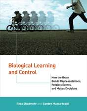 Biological Learning and Control – How the Brain Builds Representations, Predicts Events, and Makes Decisions