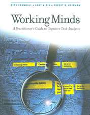 Working Minds – A Practioner′s Guide to Cognitive Task Analysis