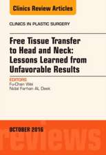 Free Tissue Transfer to Head and Neck: Lessons Learned from Unfavorable Results, An Issue of Clinics in Plastic Surgery