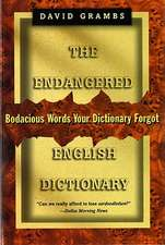 The Endangered English Dictionary (Paper)