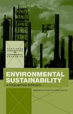 Environmental Sustainability:  A Consumption Approach