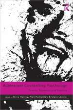 Adolescent Counselling Psychology:  Theory, Research and Practice