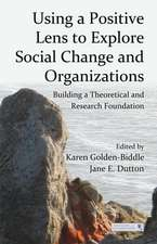 Using a Positive Lens to Explore Social Change and Organizations:  Building a Theoretical and Research Foundation