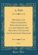 Beiträge Zur Vergleichenden Sprachforschung Auf Dem Gebiete Der Arischen, Celtischen Und Slawischen Sprachen, Vol. 3 (Classic Reprint)