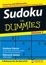 Sudoku For Dummies, Volume 2