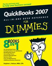 QuickBooks 2007 All–in–One Desk Reference For Dummies