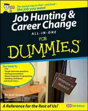 Job Hunting and Career Change All–In–One For Dummies