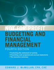 Not–for–Profit Budgeting and Financial Management