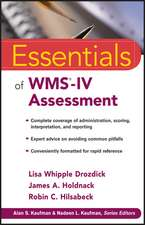 Essentials of WMS–IV Assessment