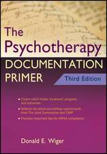 The Psychotherapy Documentation Primer