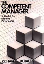 The Competent Manager: A Model for Effective Performance