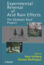 Experimental Reversal of Acid Rain Effects: The Gårdsjön Roof Project