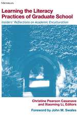 Learning the Literacy Practices of Graduate School: Insiders' Reflections on Academic Enculturation