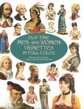 Old-Time Men and Women Vignettes in Full Color