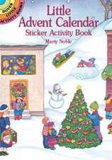 Little Advent Calendar Sticker Activity Book