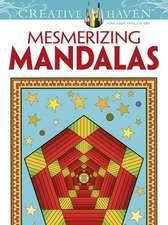 Creative Haven Mesmerizing Mandalas Coloring Book:  Superheroes & Robots!