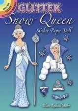 Glitter Snow Queen Sticker Paper Doll
