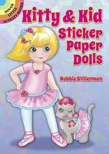 Kitty & Kid Sticker Paper Dolls