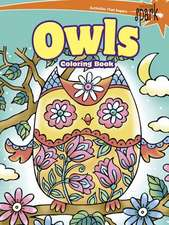 Spark Owls Coloring Book:  Inspirational Designs on a Dramatic Black Background
