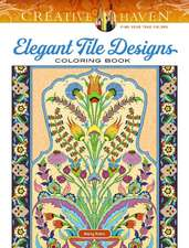 Creative Haven Elegant Tile Designs Coloring Book