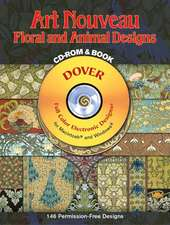 Art Nouveau Floral And Animal Designs
