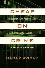 Cheap on Crime – Recession–Era Politics and the Transformation of American Punishment