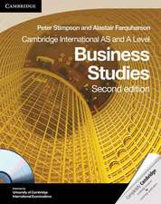 Cambridge International AS and A Level Business Studies [With CDROM]:  Theory and Cosmology