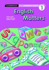 English Matters Grade 1 Learner's Book