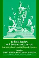 Judicial Review and Bureaucratic Impact: International and Interdisciplinary Perspectives