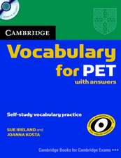 Cambridge Vocabulary for PET Student Book with Answers and Audio CD