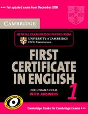 Cambridge First Certificate in English 1 for Updated Exam Se