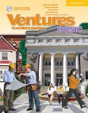 Ventures Teacher's Edition with Teacher's Toolkit Audio CD/CD-ROM Basic