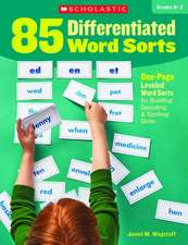 85 Differentiated Word Sorts